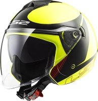 KASK LS2 OF573 TWISTER PLANE H-V YELLOW