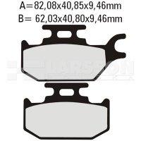 Klocki hamulcowe EBC (2 szt.) SFA307HH 4102013 Suzuki UX 150