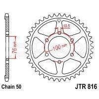Zębatka tylna stalowa JT 816-43, 43Z, rozmiar 530 2300303 Suzuki GSX 1100