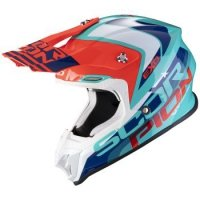 SCORPION KASK OFF-ROAD VX-16 AIR NATION GREEN-BL-R
