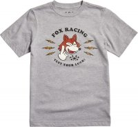 FOX T-SHIRT JUNIOR TEST YOUR LUCK LIGHT HEATHER GR