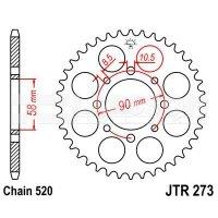Zębatka tylna stalowa JT 273-42, 42Z, rozmiar 520 2301455 Honda XL 125