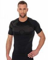 Brubeck SS11970 Koszulka męska DRY z krótkim rękawem grafit/czarny