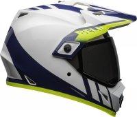 BELL KASK MX-9 ADVENTURE MIPS DASH WHITE/BLUE/HI