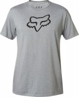 FOX T-SHIRT LEGACY FOX HEAD HEATHER GRAPHITE
