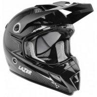 Kask motocyklowy LAZER MX8 Carbon czarny/carbon/biały