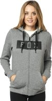 FOX BLUZA LADY Z KAPTUREM  ZAMEK HEATHER GRAPHITE