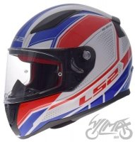 KASK LS2 FF353 RAPID INFINITY WHITE RED BLUE