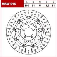 TRW Tarcza hamulcowa MSW215 KAWASAKI ZZR 600 ZX-12