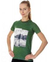 Brubeck SS13230  Koszulka damska City Air zielony - krajobraz