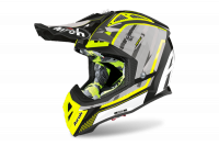 AIROH KASK AVIATOR 2.3 AMS2 GLOW CHROME YELLOW
