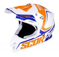 SCORPION KASK CROSS VX-16 AIR ERNEE WHITE ORA BLUE
