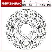 TRW Tarcza hamulcowa MSW254RAC HONDA VTR 1000 SP1