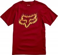 FOX T-SHIRT JUNIOR FLAME HEAD CARDINAL