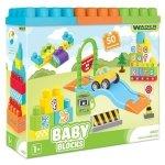 Klocki Baby Blocks 50 sztuk Wader 41450