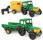 Traktor Farmer z przyczepą w kartonie
