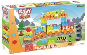Baby Blocks kolejka 3,35 m - 89el.