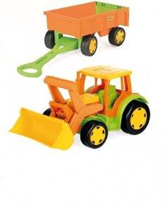 Gigant Traktor z przyczepą +zestaw do piasku Wader (66005 + 10952)