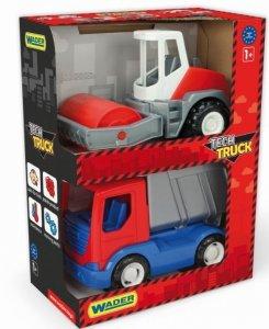 Tech Truck  wywrotka i walec Wader 35375