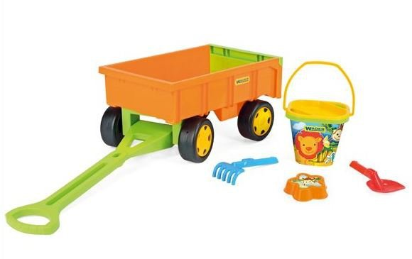 Wader Gigant Traktor z Przyczepą +zestaw do piachu 66005 + 10952