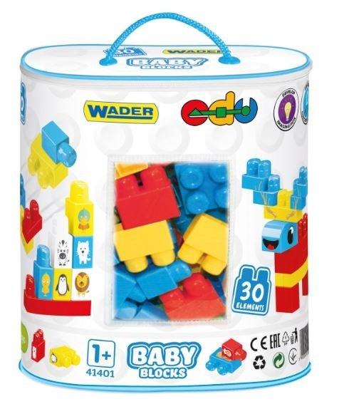 Baby Blocks klocki w torbie 30 el. Wader 41401