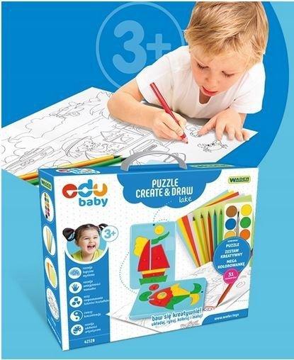 Puzzle CREATE&DRAW Lake EDU BABY WADER 42120