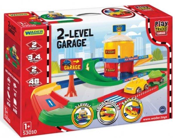 Play Tracks Garage Garaż 2-poziomowy Wader 53010