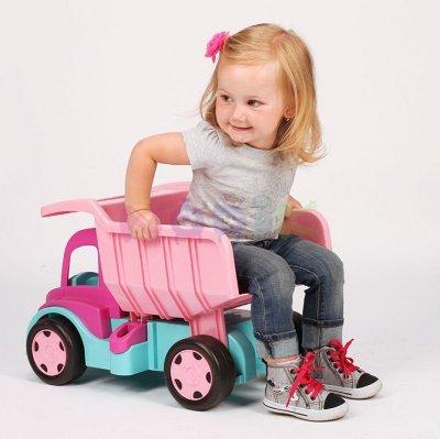 Gigant Truck wywrotka z przyczepą pink  Wader 65006 + 10958