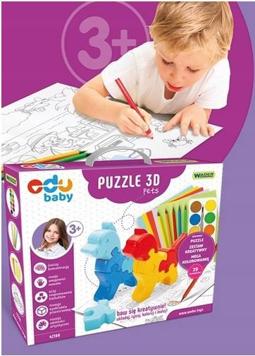 Puzzle 3D Pets  EDU BABY WADER 42160
