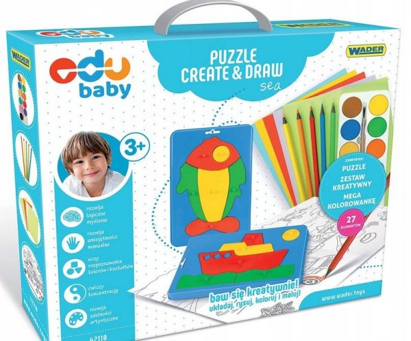Puzzle Creat&Draw morze WADER 42110