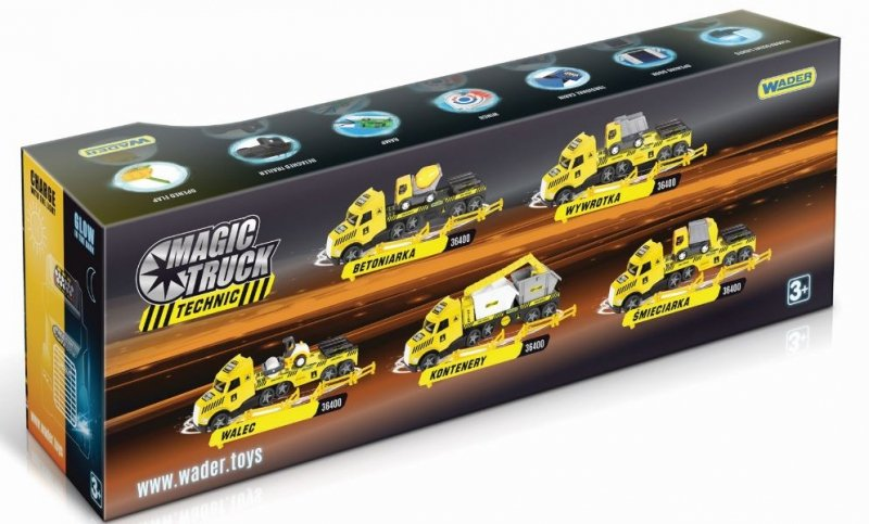 Magic Truck Technic laweta ze spychaczem WADER 36430