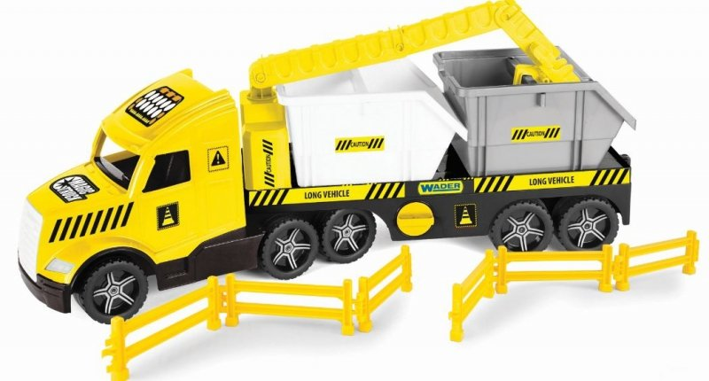 Magic Truck Technic laweta z kontenerami WADER 36470