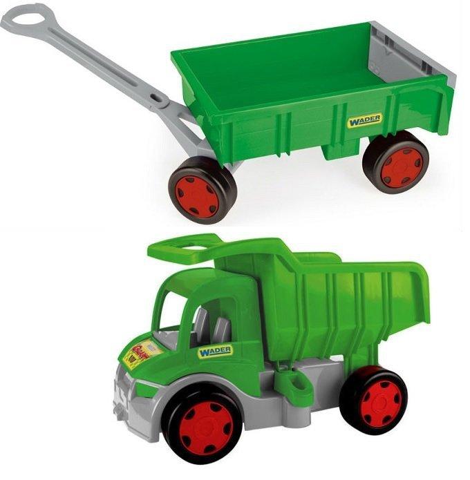 Wader Gigant Truck Wywrotka z Przyczepą - Farmer 65015 + 10915