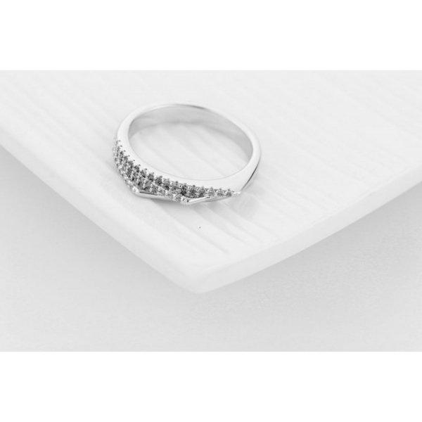 PIERŚCIONEK KRYSZTAŁKI STAL CHIRURGICZNA 477, Rozmiar pierścionków: US8 EU17