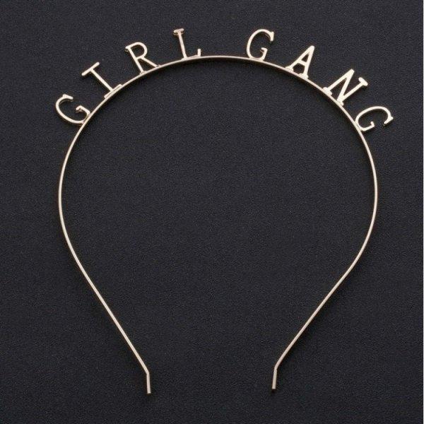 Opaska do włosów girl gang złota O154