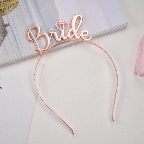 Opaska do włosów BRIDE różowe złoto O152RZ
