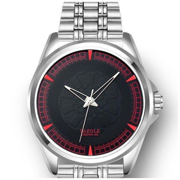 Zegarek męski yazole czarna tarcza na bransolecie ZM193