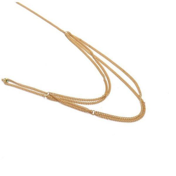 Bransoleta Harness ozdobny z kryształkiem złoty B282