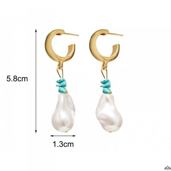 Kolczyki wiszące perły K1167