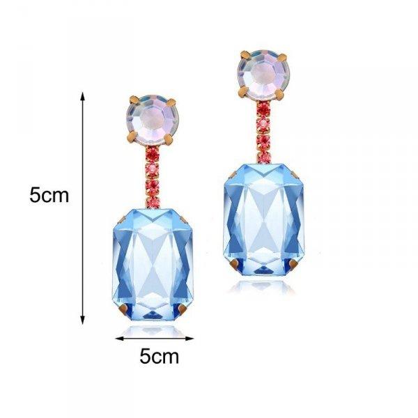 Kolczyki wiszące kryształ K1212