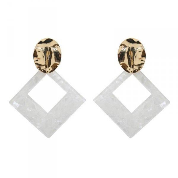 Kolczyki wiszące pearls triangle K1260