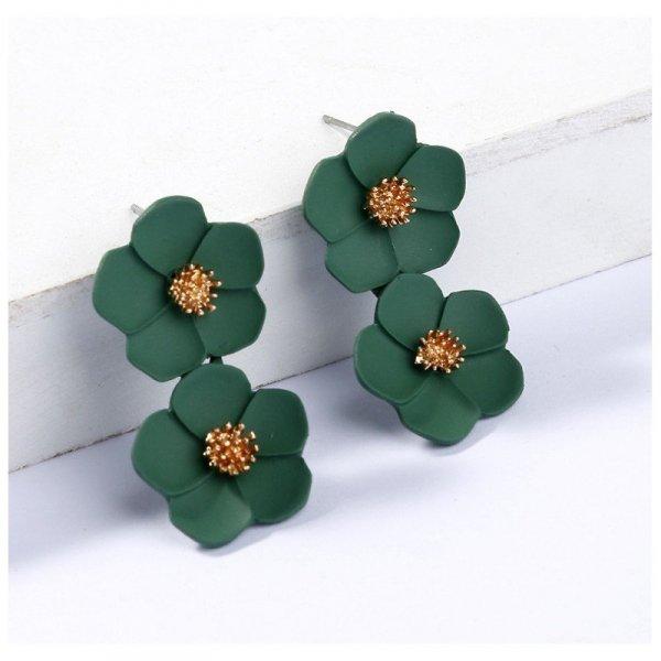 Kolczyki wiszące duże kwiaty K1262ZIE