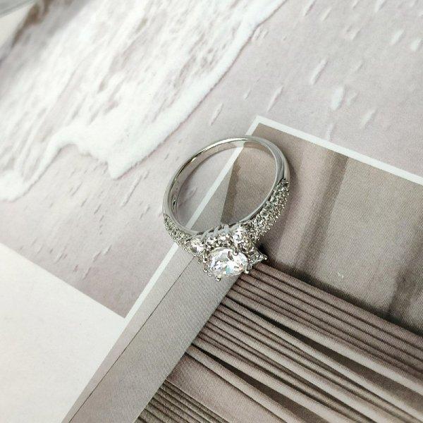 Pierścionek stal chirurgiczna platerowana złotem 560, Rozmiar pierścionków: US8 EU17