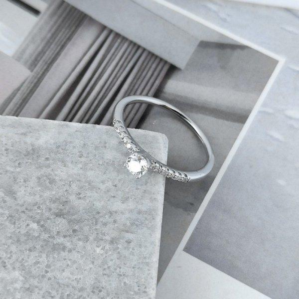 Pierścionek stal chirurgiczna platerowana złotem 561, Rozmiar pierścionków: US7 EU14