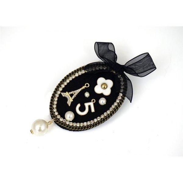 Broszka Spinka Paris czerń