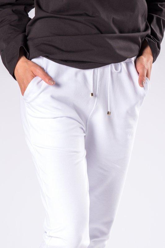 dresowe spodnie ze ściągaczami