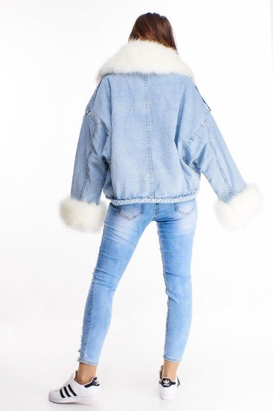 ocieplana dżinsowa kurtka z futerkiem i odpinaną podszewką