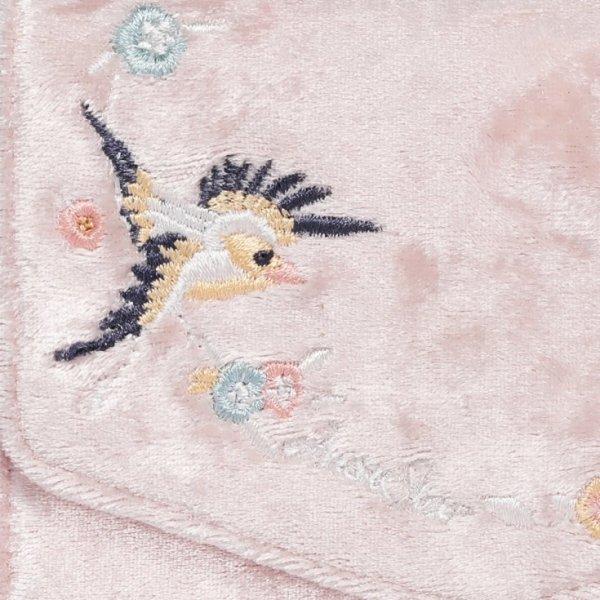 Welurowy portfel różowy