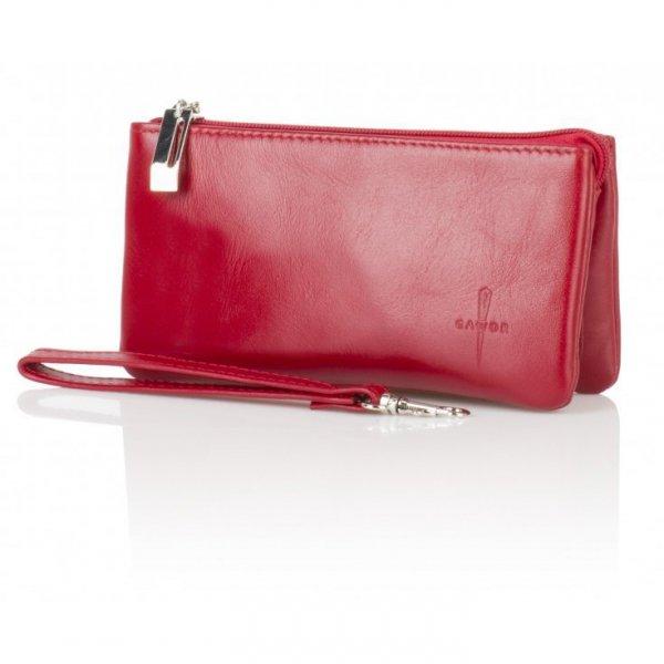 Damski czerwony portfel, duży