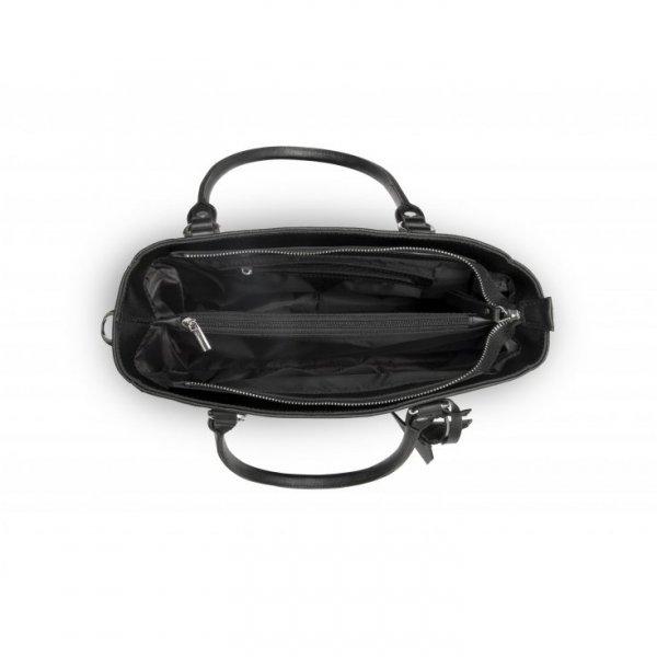 Klasyczna, biznesowa torebka, czarna